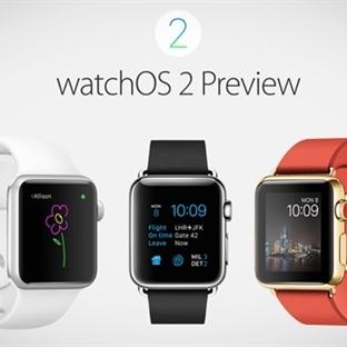 Apple WatchOS 2'yi Yayımladı!