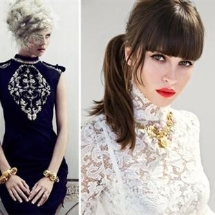 Barok Tarzı Dantel Yaka Bluz Modelleri