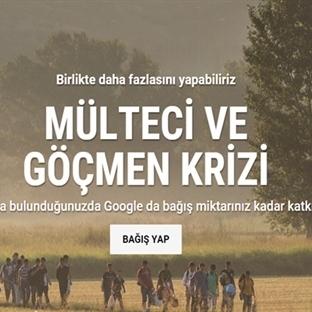 Google'dan Mülteci ve Göçmenler İçin Yardım Kampan