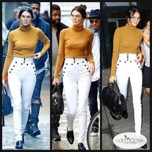Günün Stili: Kendall Jenner Hardal-Beyaz Uyumu