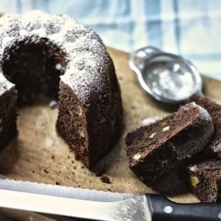 Kakaolu, cevizli ve tarçınlı kek