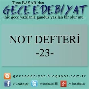 Not Defteri -23-