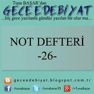 Not Defteri -26-