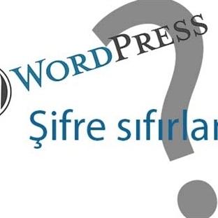 Wordpress şifresini nasıl sıfırlanır?