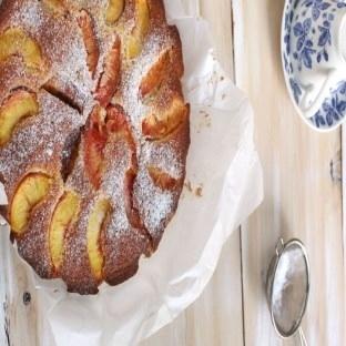 Yazın enfes keki şeftalili kek