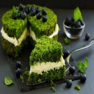 Yemyeşil ıspanaklı pasta