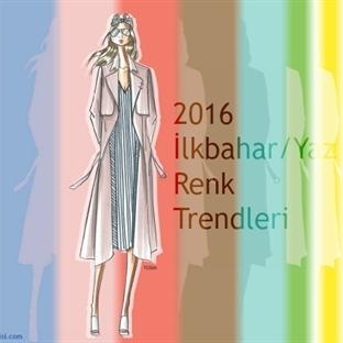 2016 İlkbahar/Yaz Renk Trendleri