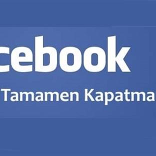 Facebook Hesabı Kalıcı Olarak Nasıl Silinir ?