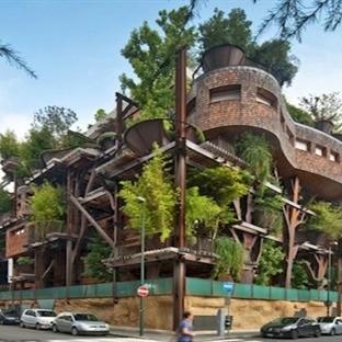 Doğaya saygı gösterilerek inşa edilmiş 12 bina