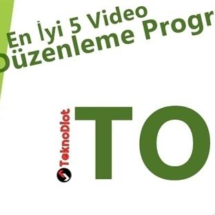 En İyi 5 Video Düzenleme Programı