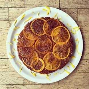 Ters Yüz Portakallı Kek