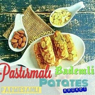 Pastırmalı Bademli Parmesanlı Patates Kroket