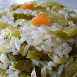 Pırasalı pirinç pilavı tarifi