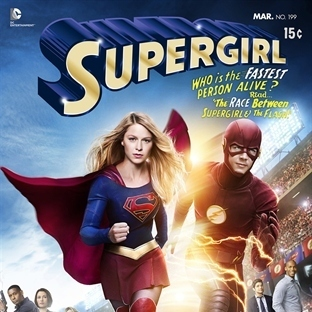 Supergirl & The Flash Crossover Bölümünden Poster