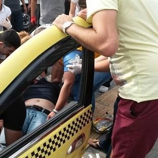 Yaralıyı Almayan Taksiciler!