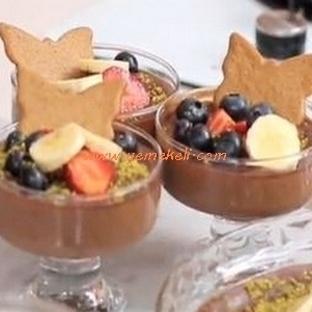 Çikolatalı Kayısılı Sütlaç