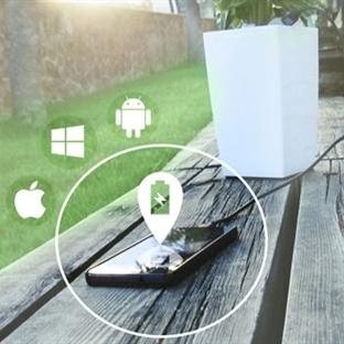 Mobil Cihazları Şarj Eden Akıllı Saksı!