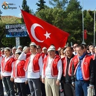 Muğla'da 57nci Alay Vefa Yürüyüşü Yapıldı
