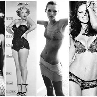 Mükemmel kadın vücudu algısı ve son 100 yıldaki de