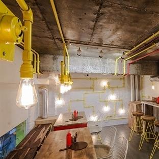 Yeni Delhi'de Instapizza Restaurant Aydınlatma