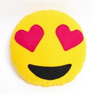 Emoji-Kissen mit Herzaugen nähen
