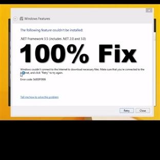 0x800f081f veya 0x8007000D veya 0x800F0906 çözümü