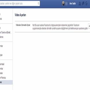 Facebook'ta Otomatik Video Oynatma Nasıl Kapatılır