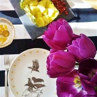 Lale Mor Kahvaltı Sofrası
