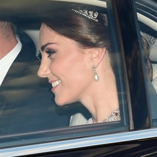 Kate Middleton: Pembe Marchesa Elbise