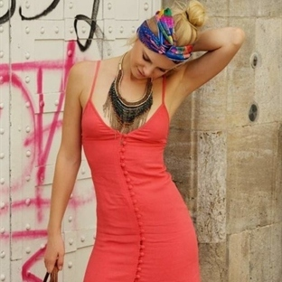 Midi-Kleid Sommer Outfit