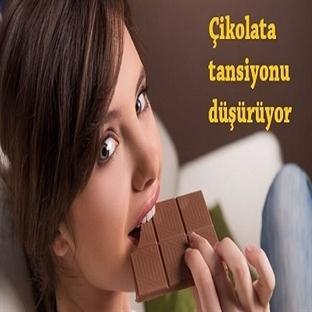 Çikolata tansiyonu düşürüyor