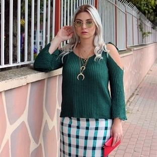 Yeşil Örgü Bluz