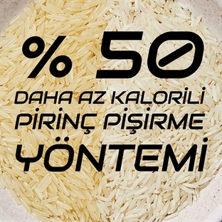 %50 Kalorili, Pirinç Pişirme Yöntemi