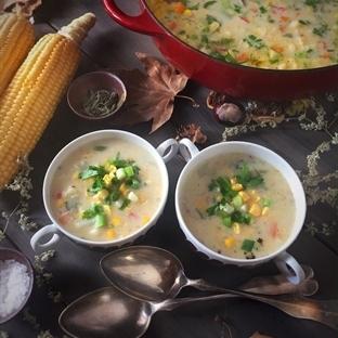 Sebzeli Mısır Çorbası