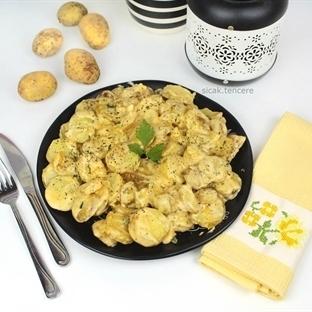 Kremalı Hardallı Bebek Patates