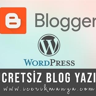 Ücretsiz Blog Yazın
