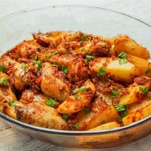 Fırında Patatesli Tavuk Kanat Tarifi