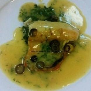 Rokfor Soslu File Zeytinli Balık Fileto