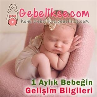 1 Aylık Bebeğin Gelişim Bilgileri