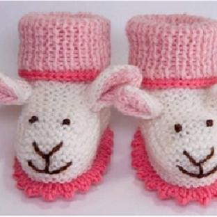Bebekler İçin Sevimli Patik Koyun Kendiniz Örün