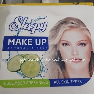 Sleepy Salatalık Tazeliği Makyaj Temizleme Mendili