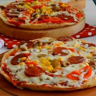 Bazlama ile Pizza Tarifi