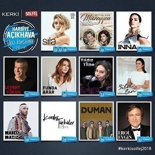 Açıkhava Yaz Konserleri 12 Temmuz'da başlıyor