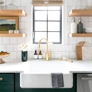 Yeşilin Her Tonu İle Yeşil Mutfak Dolabı Modelleri