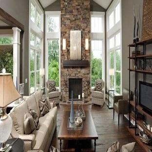 Salon İçin Taş Duvar Dekorasyon Önerileri