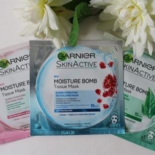 Garnier Nem Bombası Kağıt Maskeler