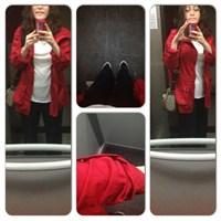 Ne Giydim ? Baharlık Kombinler- Kırmızı Mont