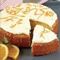 Portakal Kremalı Kek