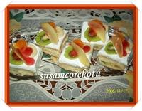 Meyveli Mini Dilimlik Pasta