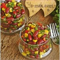 Meksika Fasulyesi Salatası (Resimli Anlatım)
